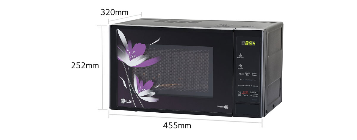 Lg 20 Litres Solo Microwave Oven With Glass Door Ms2043bp